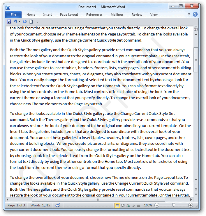 How To Add Watermarks To Word Documents In 2007 & 2010