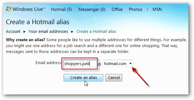 How To Add and Manage Aliases From a Single Windows Hotmail