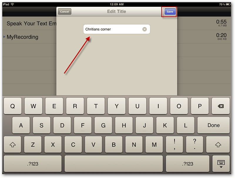 how to add voice to powerpoint on ipad