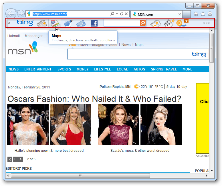 How To Install And Use The New Bing Bar In Internet Explorer 9