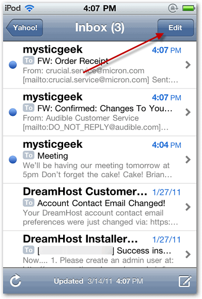 how to delete multiple gmail emails on iphone 6