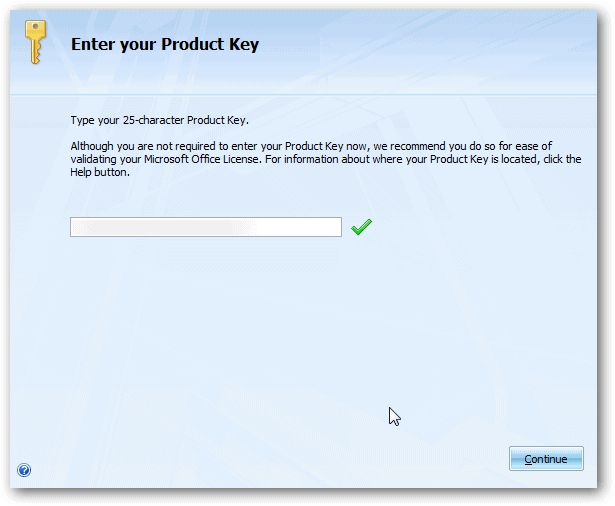 ms office activation key 2007