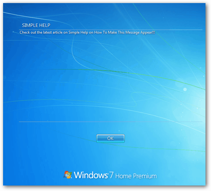 Windows Xp Error Log: How To Create A Text Logon Message In Windows 7