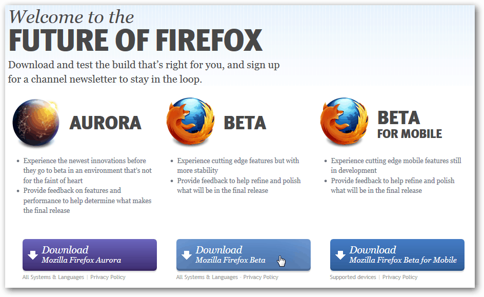 Firefox 5 Beta Is Now Available For Download