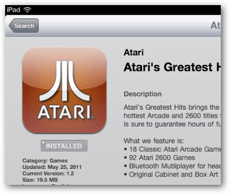 Get your retro gaming on with atari greatest hits for ipad simple